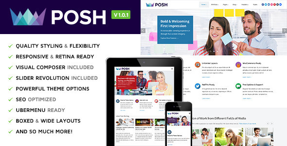 ThemeForest Posh Multi-Purpose WordPress Theme 6791464