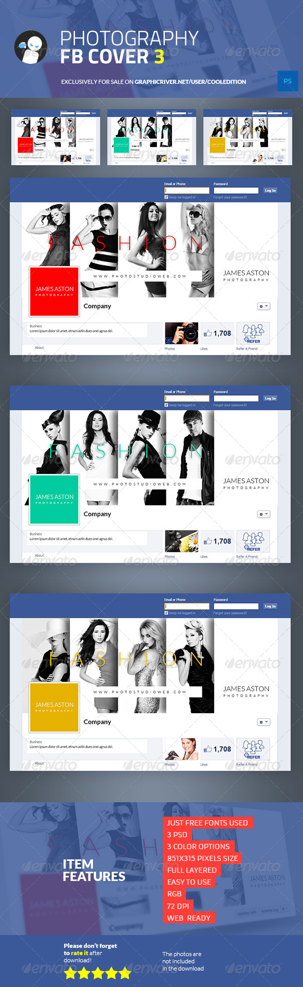 GraphicRiver Photography Facebook Cover 3 6879423