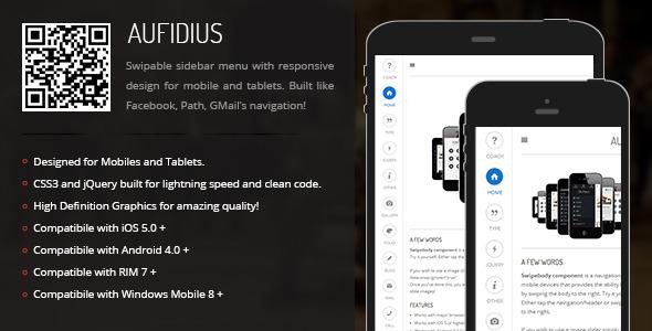 CodeCanyon Aufidius Sidebar Menu for Mobiles & Tablets 6879503