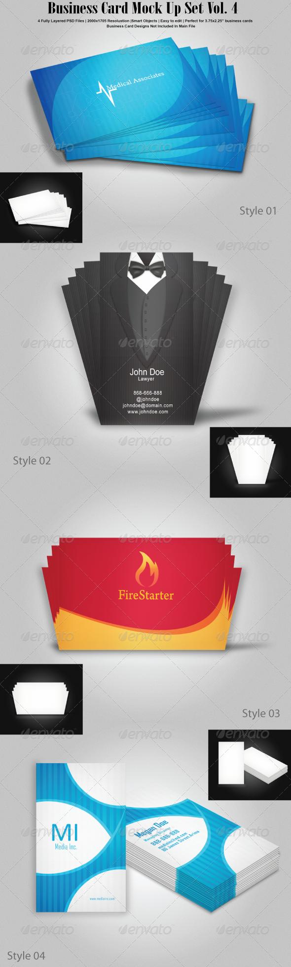 GraphicRiver Business Card Mock Up Set Vol 4 6879658