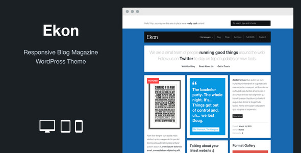 Ekon: Responsive Blog Magazine WordPress Theme - Blog / Magazine WordPress