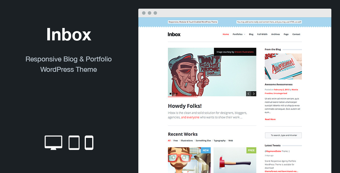 Inbox: Responsive Blog & Portfolio WordPress Theme