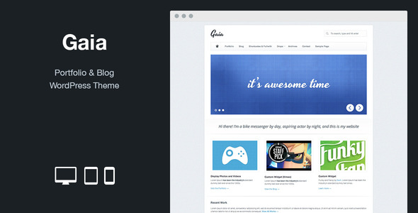 Gaia: Portfolio & Blog WordPress Theme - Portfolio Creative