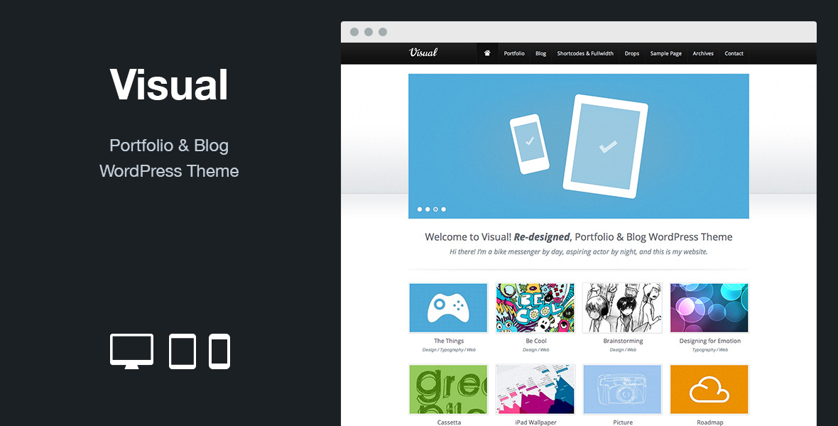 Visual: Portfolio & Blog WordPress Theme