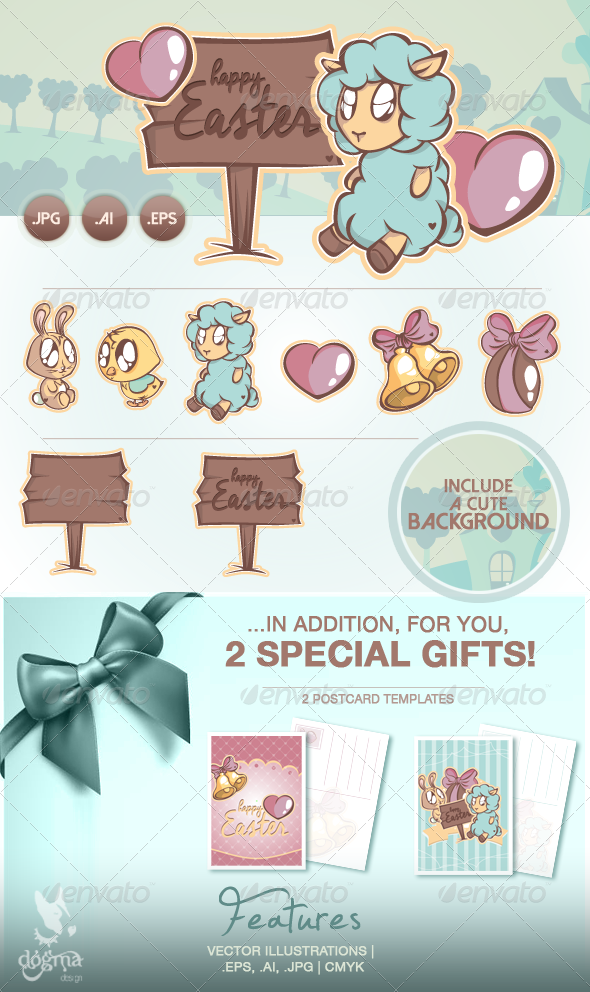 GraphicRiver Happy Easter Collection 6879906