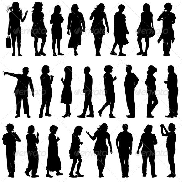 GraphicRiver Silhouettes 6880055