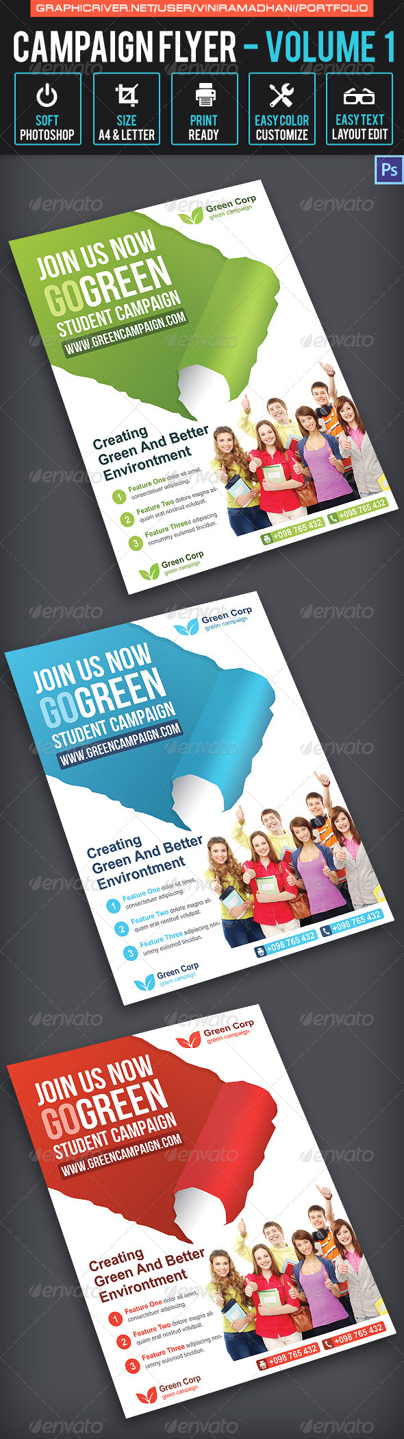 GraphicRiver Campaign Flyer Volume 1 6881455