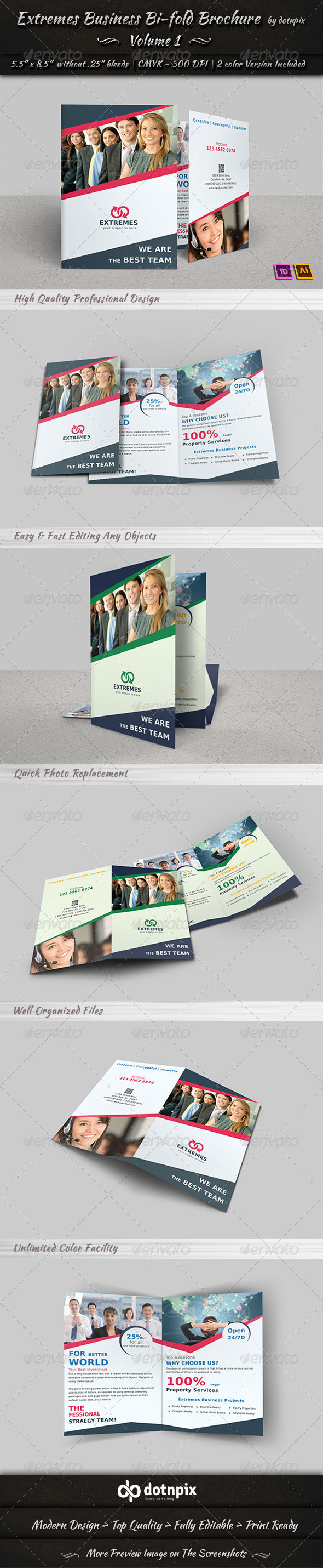 GraphicRiver Extremes Business Bi-Fold Brochure Volume 1 6881566