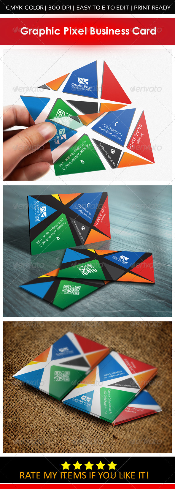 GraphicRiver Graphic Pixel Business Card 6881786