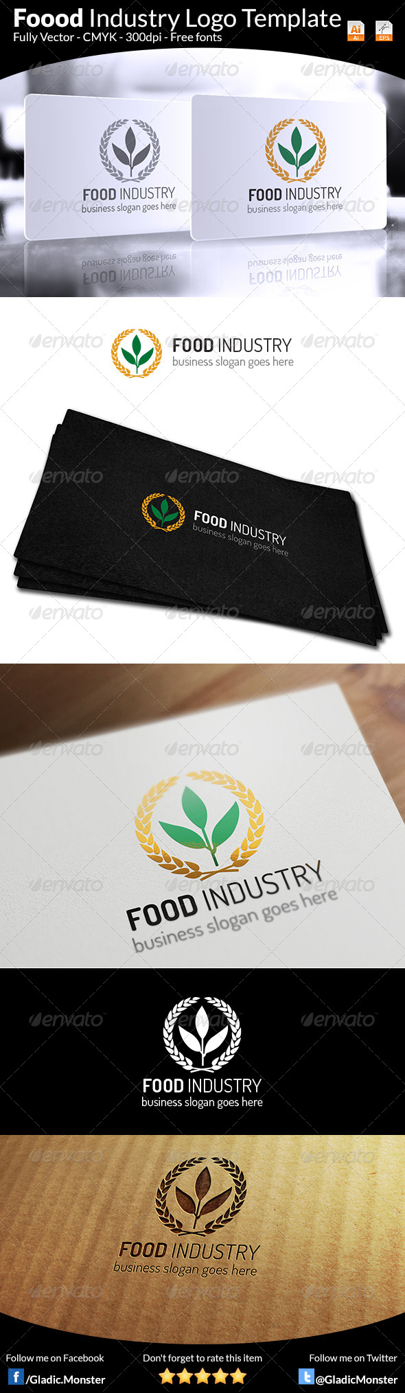 GraphicRiver Food Industry Logo 6881826