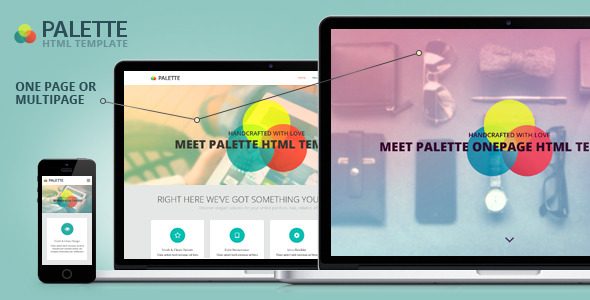 PALETTE - Bootstrap Parallax HTML Template