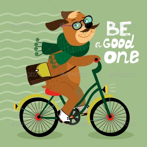 GraphicRiver Hipster Poster with Nerd Dog 6882281