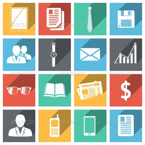 GraphicRiver Flat Business Icons Set 6882294
