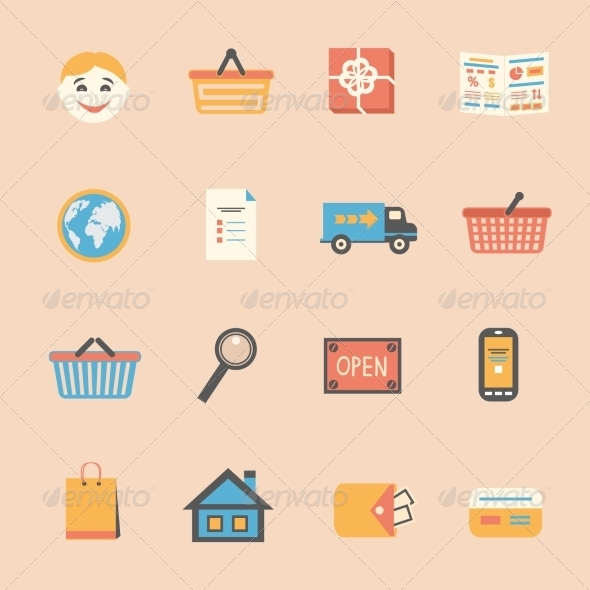GraphicRiver Internet Shopping Icons Set 6882295