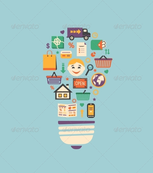 GraphicRiver Online Shopping Innovation Idea 6882296