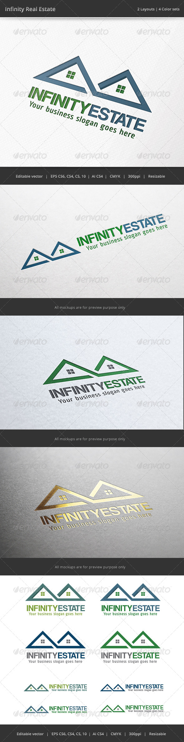 GraphicRiver Infinity Real Estate Logo 6882455