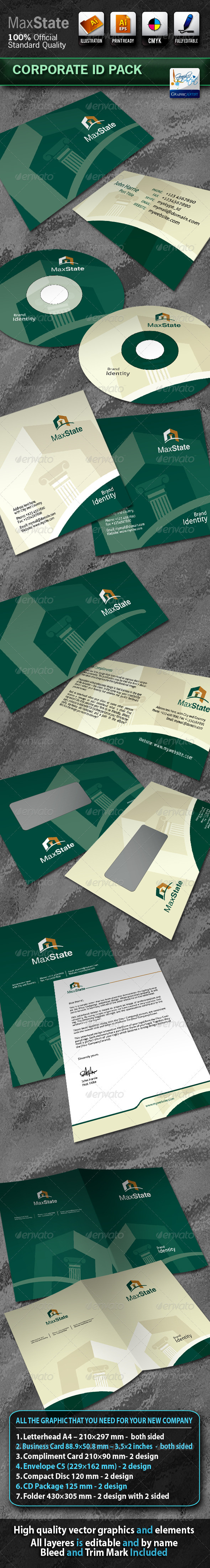 MaxState Business Corporate ID Pack With Logo