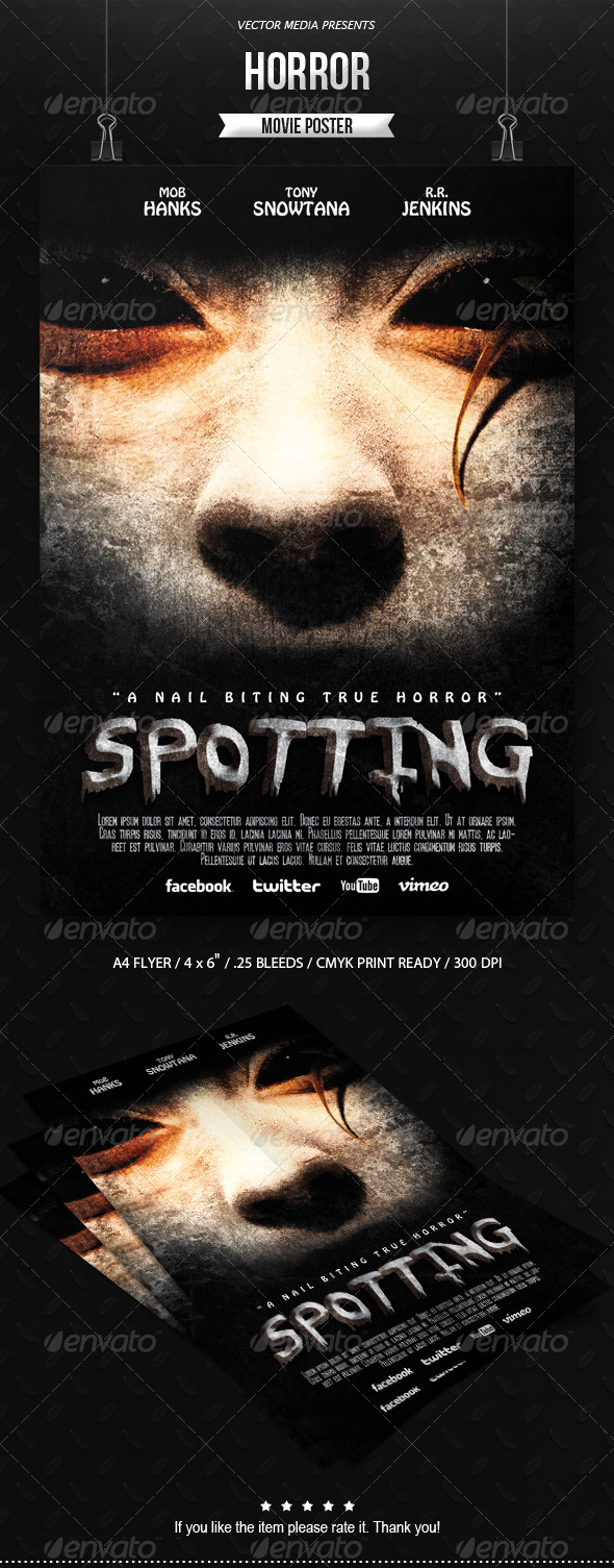 GraphicRiver Horror Movie Poster 6882461