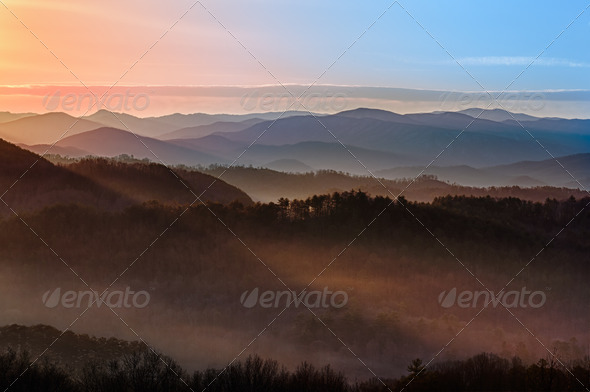 PhotoDune Sunrise over Smoky Mountains 738793