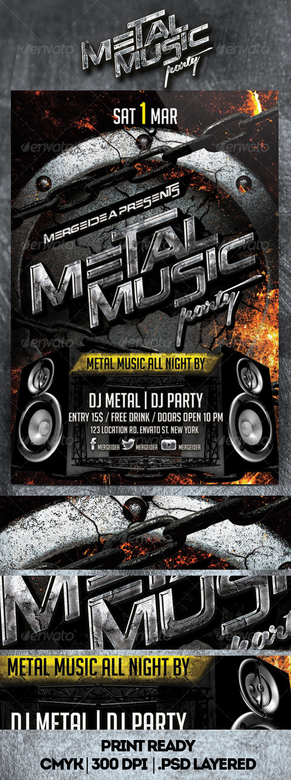 GraphicRiver Metal Music Party Flyer 6882601