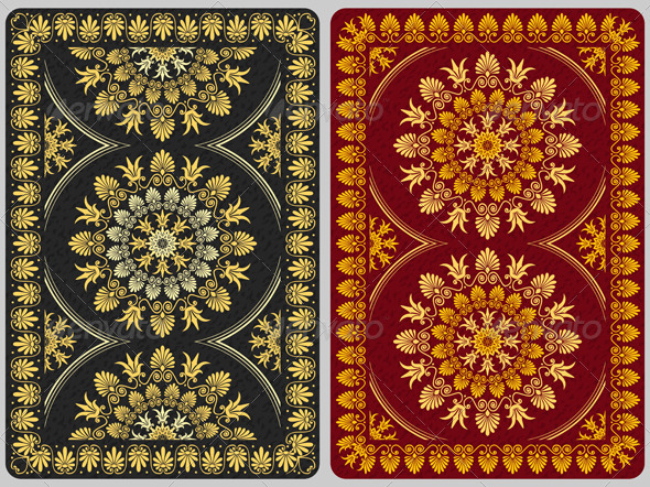 Floral Ornament Cards Background