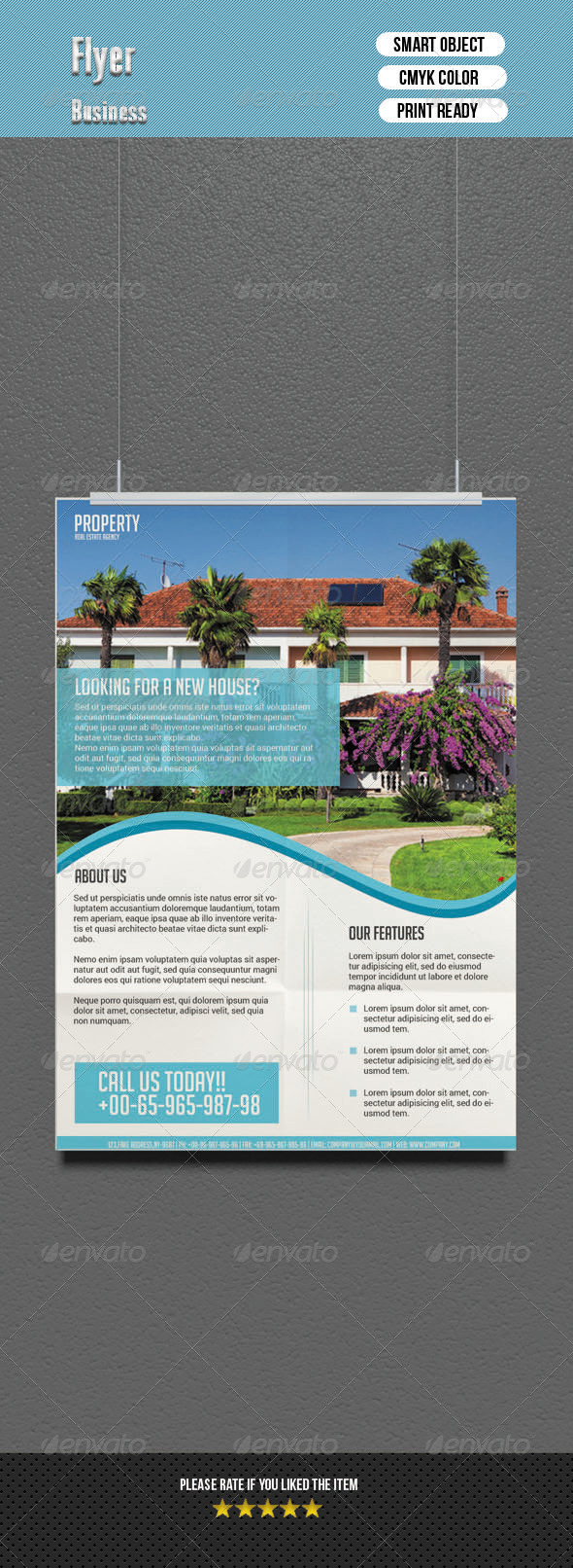 GraphicRiver Real Estate Flyer 6882948