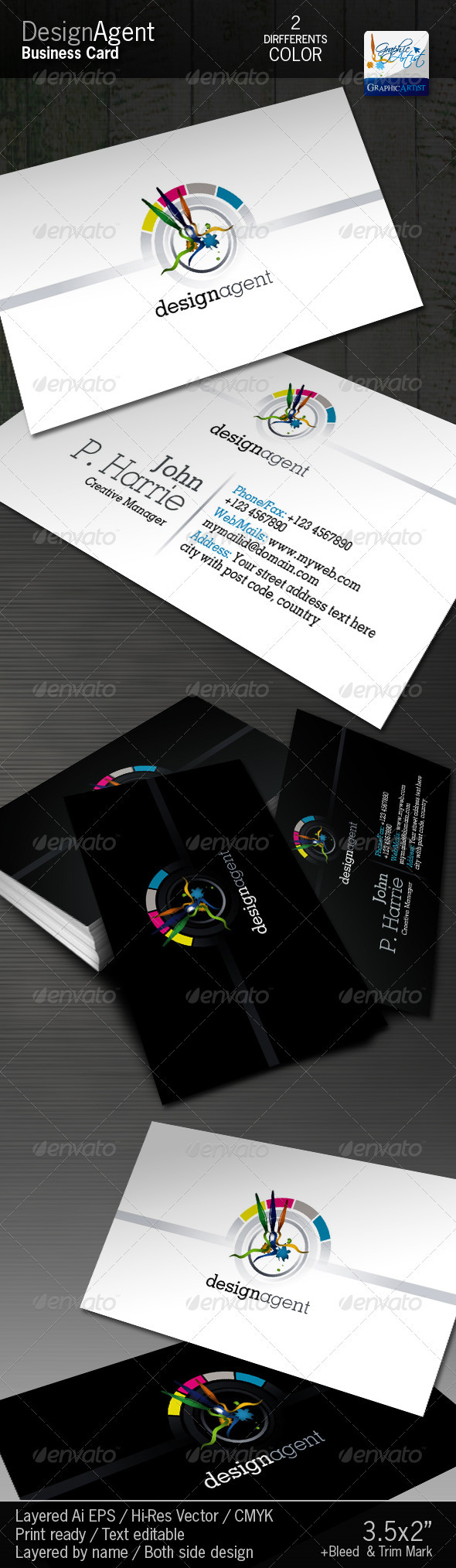 DesignAgent Corporate Business Card - Corporate Business Cards