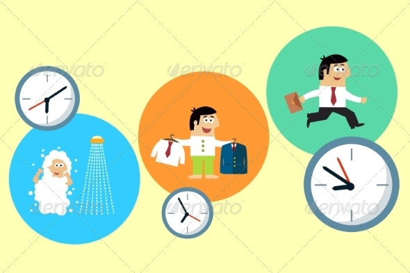 GraphicRiver Manager Starting his Busy Workday 6882998