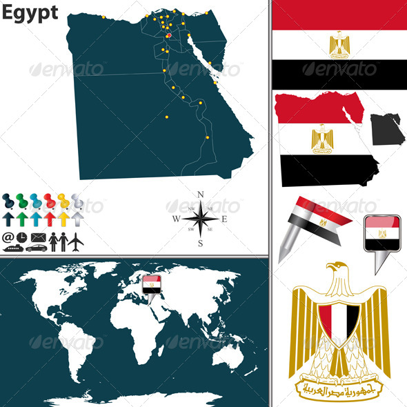 GraphicRiver Map of Egypt 6883193