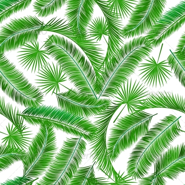 GraphicRiver Tropical Palm Tree Seampless Pattern 6883194