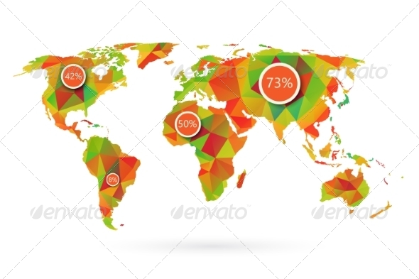 GraphicRiver Polygonal World Map 6883204