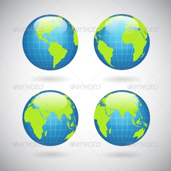 GraphicRiver Earth Globe Icons Set 6883293