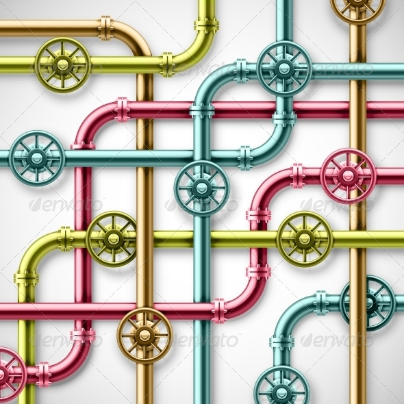 GraphicRiver Colorful Pipes 6883294
