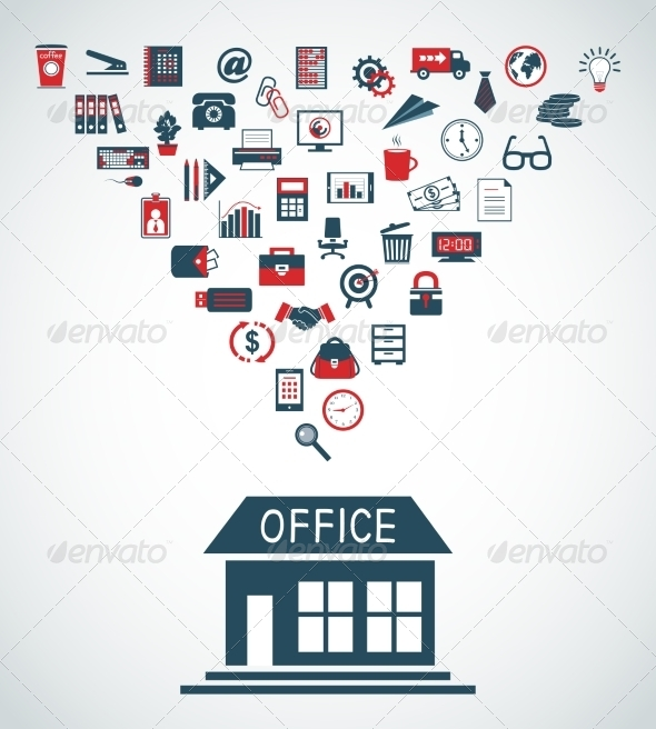 GraphicRiver Business Office Building Concept 6883301