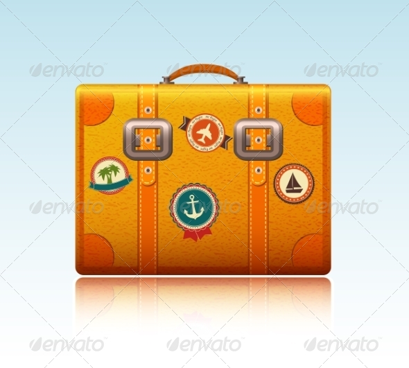 GraphicRiver Travel Suitcase with Stickers 6883310