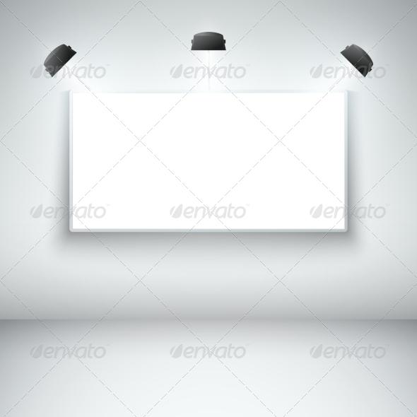 Illuminated Blank Gallery Frame