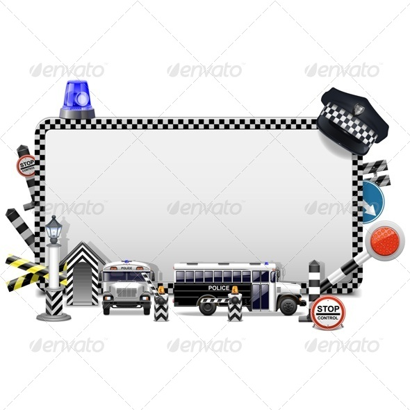 GraphicRiver Vector Police Frame 6883621