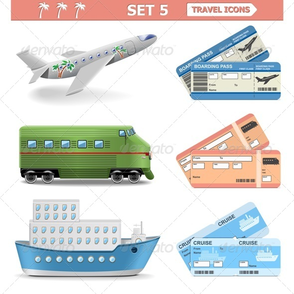 GraphicRiver Vector Travel Icons Set 5 6883668