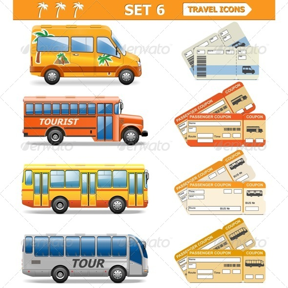 GraphicRiver Vector Travel Icons Set 6 6883672