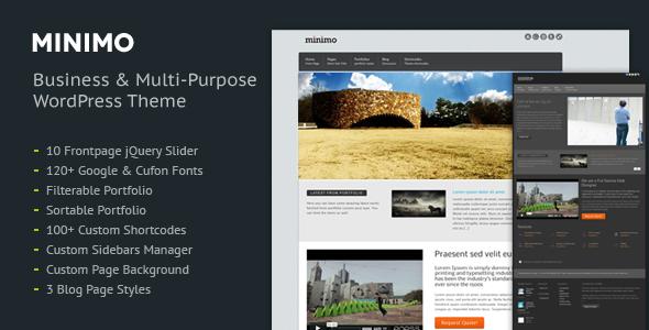 Minimo / Corporate, Business, Portfolio, BlogTheme