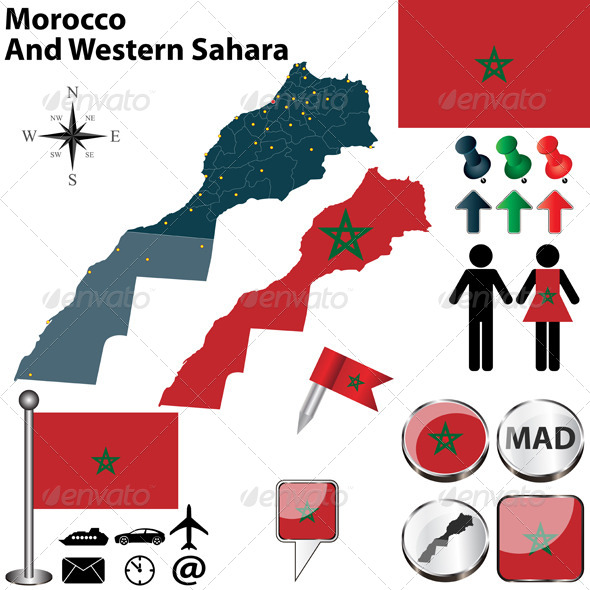 GraphicRiver Map of Morocco And Western Sahara 6839699