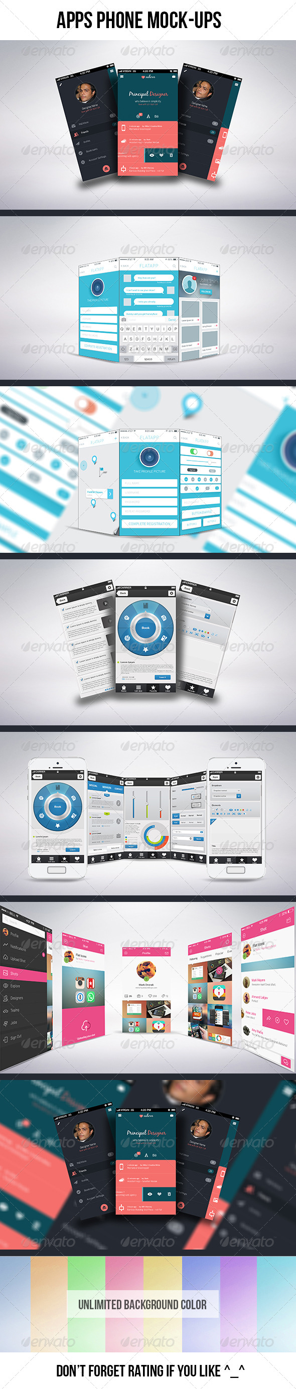 GraphicRiver Apps Phone Mock-ups 6872442