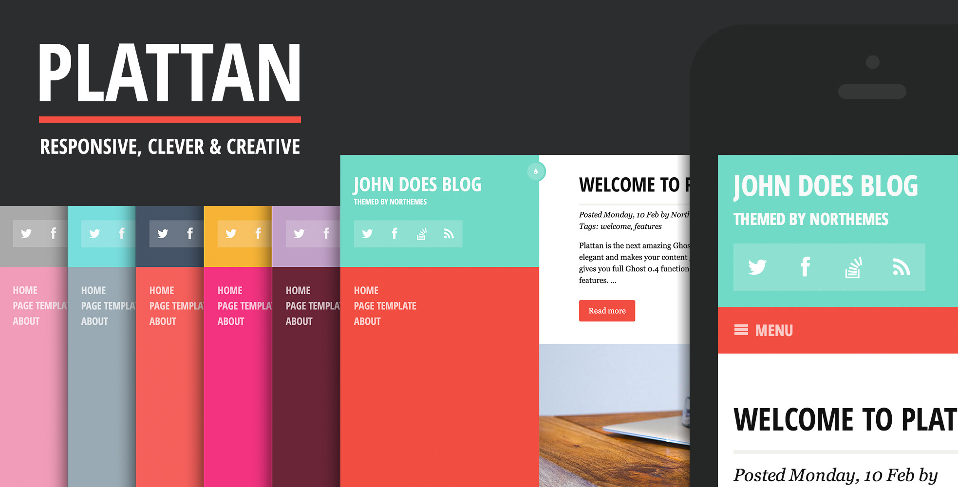 Plattan - Responsive, Flat and Clean Ghost Theme