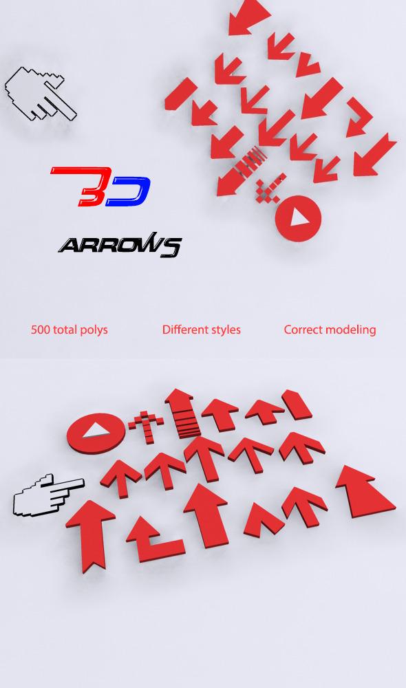 3DOcean 3D arrows 6883911