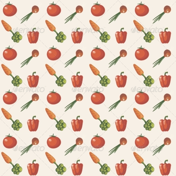 GraphicRiver Vegetable Pattern 6883954
