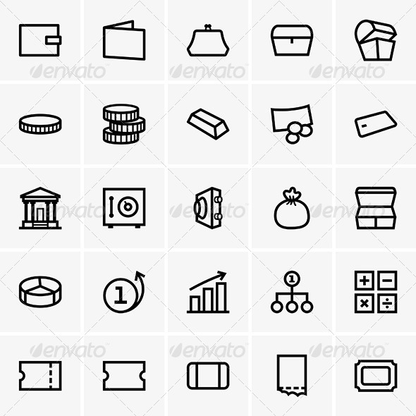 GraphicRiver Finance Icons 6884325