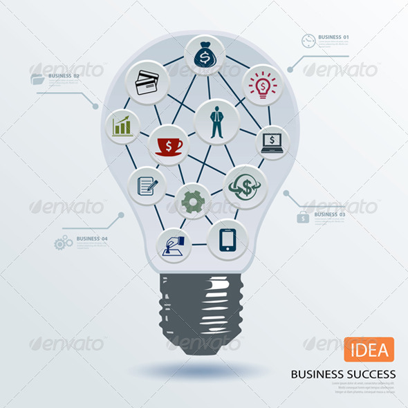 GraphicRiver Light Bulb Business Application Icon 6884492