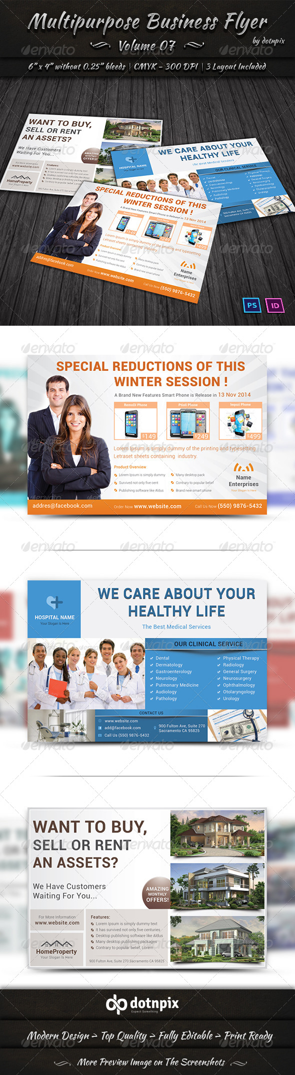 GraphicRiver Multipurpose Business Flyer Volume 7 6884507