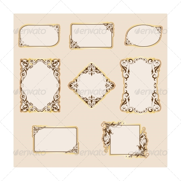 GraphicRiver Set of Template Frames and Borders 6884508