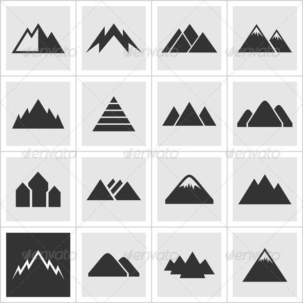 GraphicRiver Icon of Mountains2 6884513